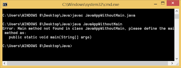 You can not run a Java program without main mehtod