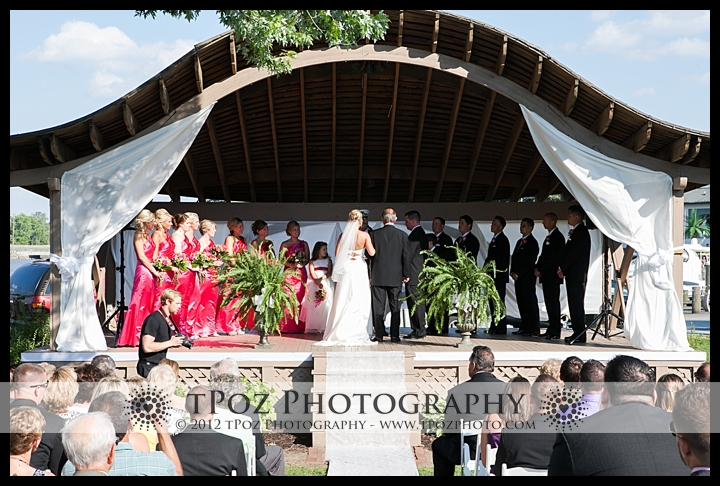 Pell Gardens Chesapeake Inn Wedding ceremony