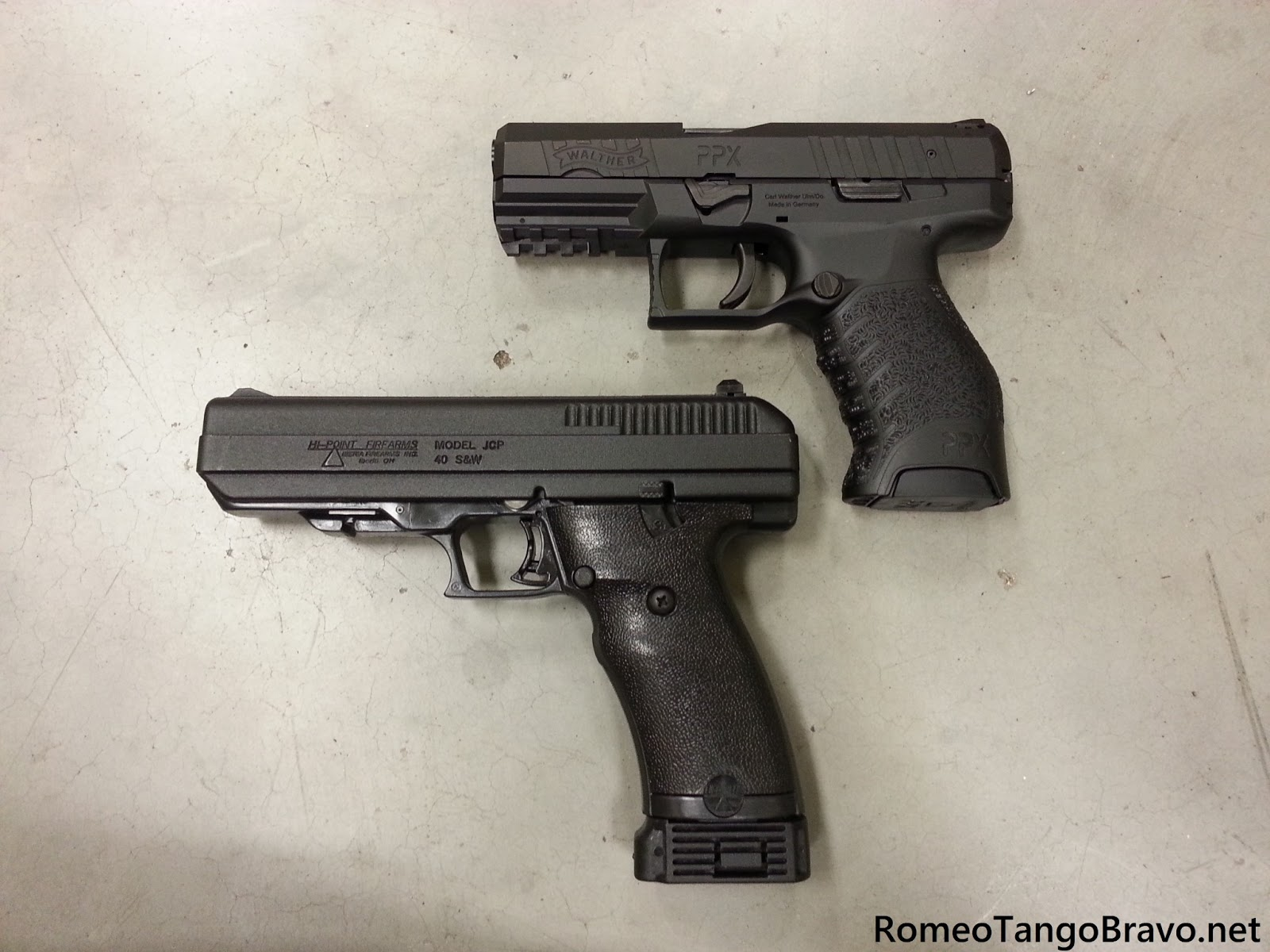 Romeotangobravo Walther Ppx Vs Hi Point Jcp Photo Comparison