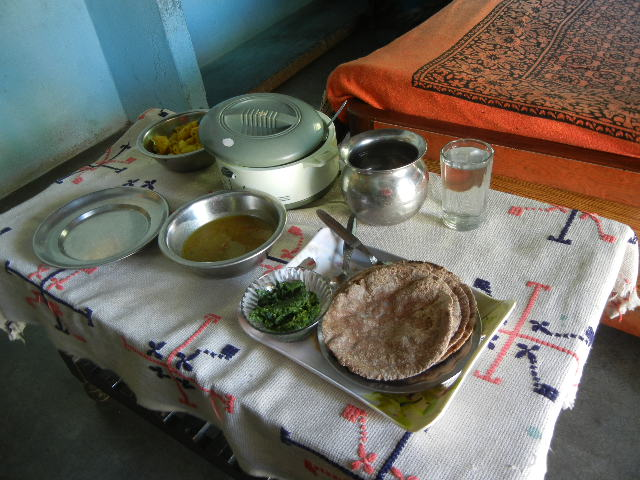 Simple delicious food at a village home; Bhimtal, Uttarakhand