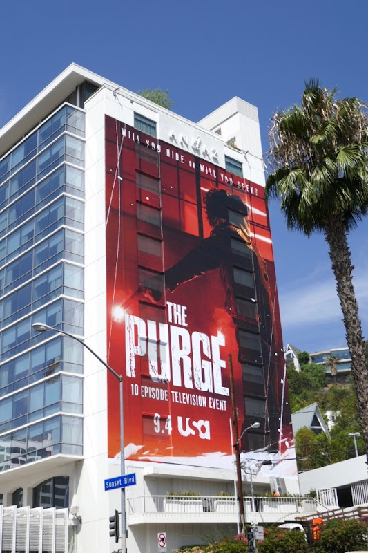 Purge TV series billboard