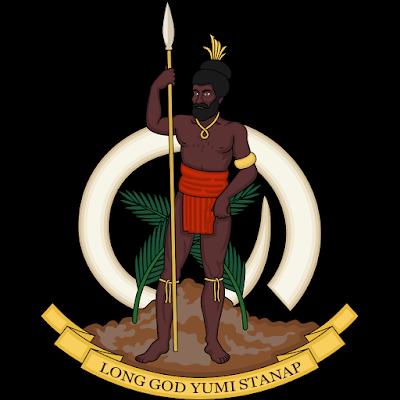 Coat of arms - Flags - Emblem - Logo Gambar Lambang, Simbol, Bendera Negara Vanuatu