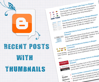 Recent Posts widget with thumbnails to Your Blog