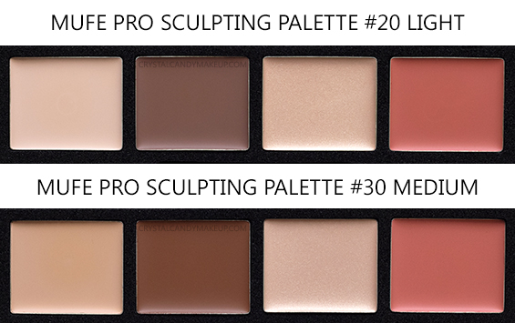 Make Up For Ever Pro Sculpting Palettes 20 Light 30 Medium Review Photos Swatches