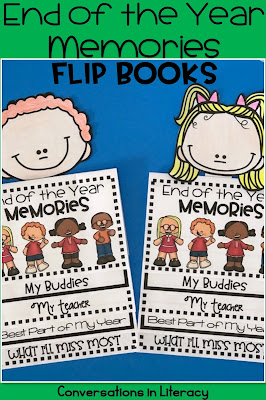 End of the Year Memory Book Activities