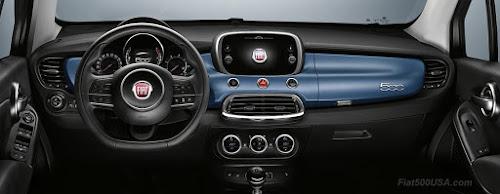 Fiat 500X Sky Blue Dash