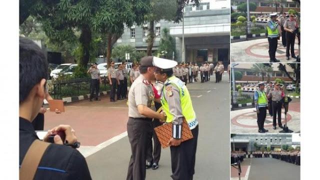 Wah, Polisi Korban Pencakaran Oleh Dora Natalia Diganjar Penghargaan