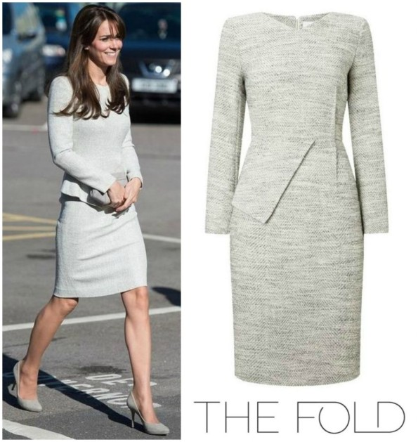 Catherine, Duchess Of Cambridge's FOLD Eaton Dress