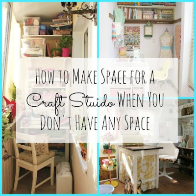 No roof for a craft studio? Check out these ideas to make room!