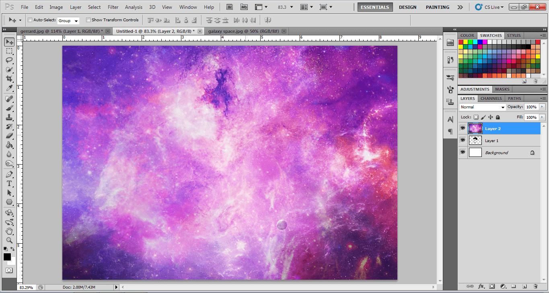 Membuat Gambar Galaxy Dengan Photoshop