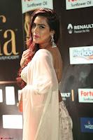 Prajna Actress in bhackless Cream Choli and transparent saree at IIFA Utsavam Awards 2017 016.JPG