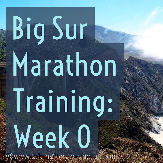 Big Sur Marathon Training Week 0