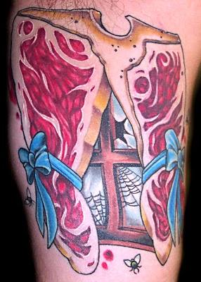 tatuaje de filete de solomllo