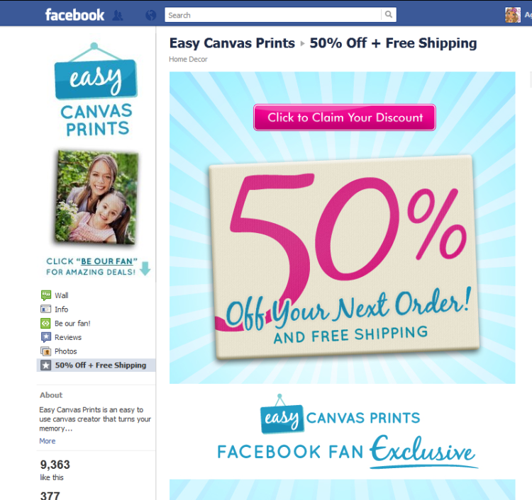 Agape Love Designs: Easy Canvas Prints Review And 50% ...