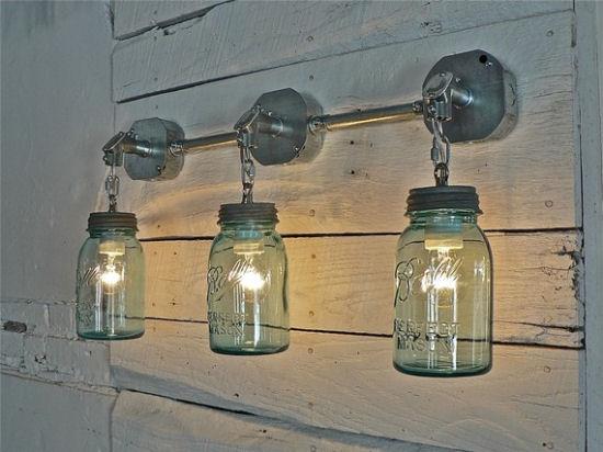 Vintage Ball Jar Wall Mount Lighting The Blue Cabinet
