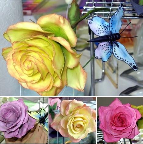 Zuckerblumen Rosen Blütenpaste gumpaste Kurs class