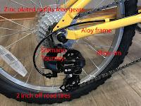"Wanda 20"" x 2"" multi-terrain light-off-road tires on EuroMini ZiZZO Campo Folding Bike"