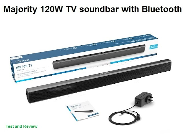 Majority 120W TV soundbar with Bluetooth