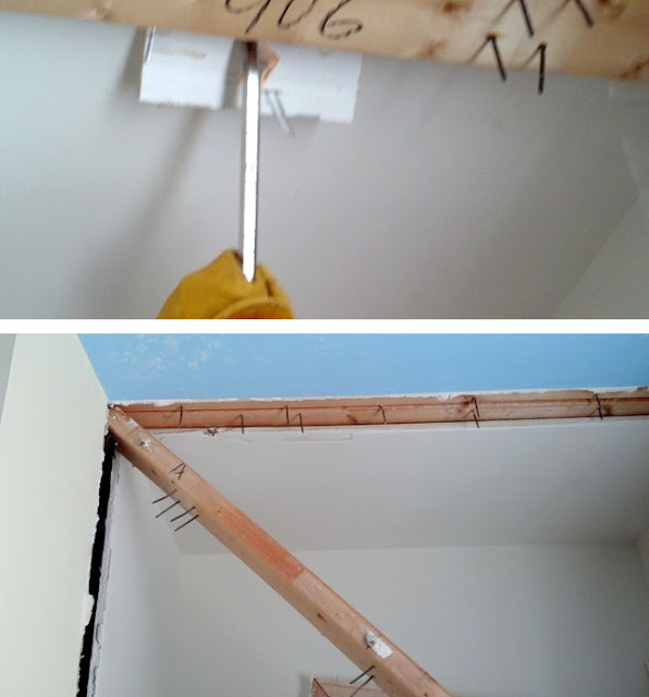 pulling out 2x4s from ceiling