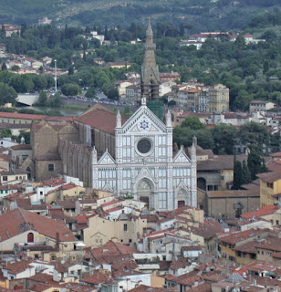 The magnificent Basilica of Santa Croce in Florence