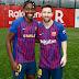 Asisat Oshoala meets Lionel Messi at training