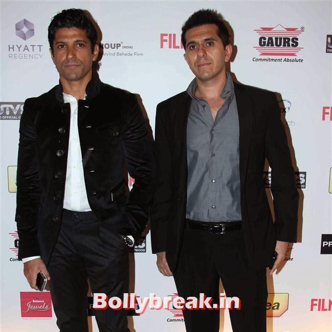 Farhan Akhtar an Ritesh Sidhwani, Bollywood Actors at 59th Filmfare Pre Awards Party