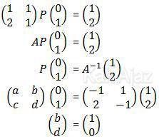 Persamaan matriks P yang pertama