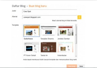 Easy Step. how to create a free blog on Blogspot