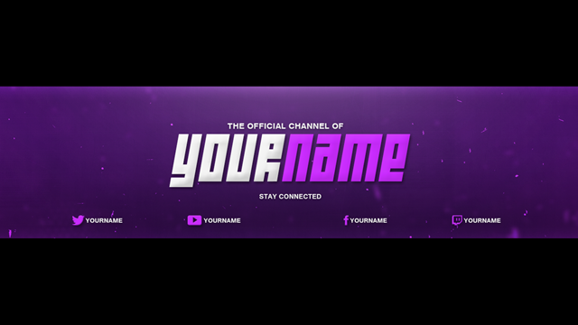 Youtube banner cover template photoshop download free for Youtube channel picture template