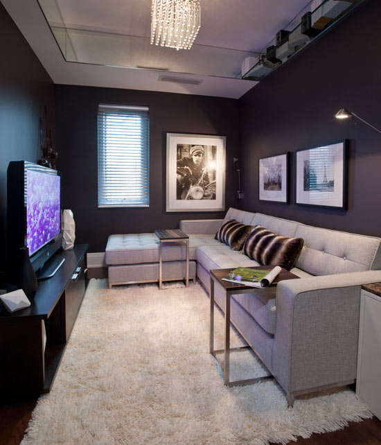 Family Room Design With Tv: Decoración De Salas Color Chocolate