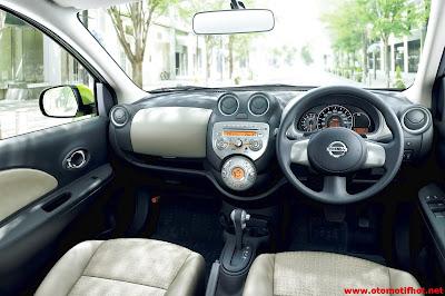 Model Desain Interior Nissan March yang luas dan canggih
