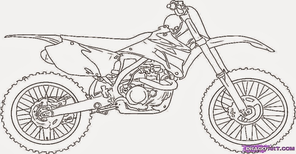 Dirt Bike Coloring Pages  Coloring Pages For Kids