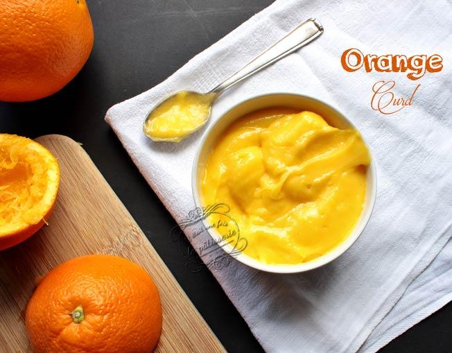 orange curd recette