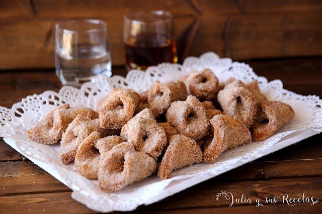 Pestiños con azúcar y canela. Julia y sus recetas