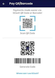 Pay via QR Code GCash