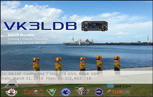 DB1ID: +++ CQ CQ +++ this is Delta Bravo One India Delta