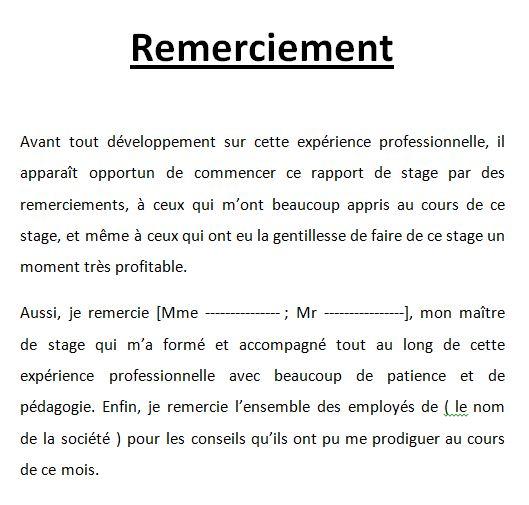 Extrêmement 4 exemples de remerciement rapport de stage.doc | Outils, livres  BS22