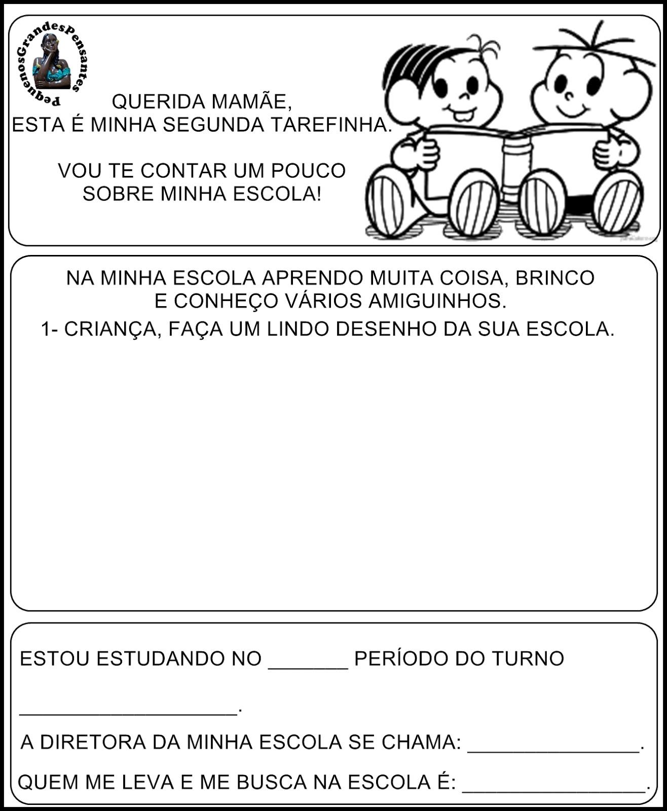 Well-known Pequenos Grandes Pensantes.: Atividades Início Ano Letivo na  AC64