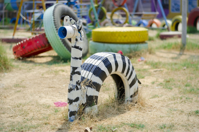 Rubbish Clearance Idea: Tyre Recycling For Playgrounds and Backyard Fun