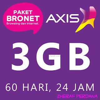 Perdana Internet AXIS 3GB - AXIS Bronet 3GB 24 Jam