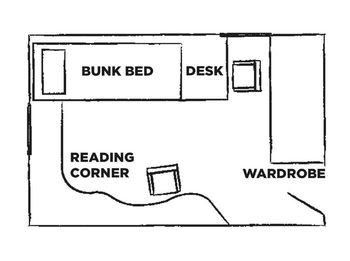 Custom designed kid's room in Australia