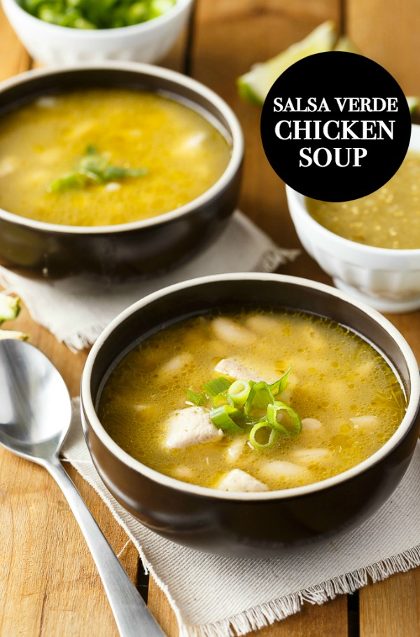 Salsa Verde Chicken Soup from Simply Stacie