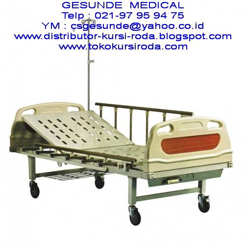 Jual Hospital Bed Pasien ABS 1 Crank Manual Baru satu Engkol