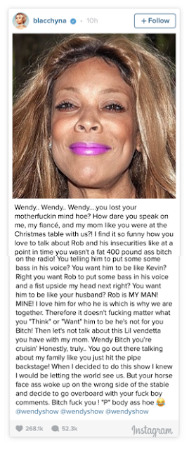 What Did Wendy Williams Say About Blac Chyna?