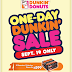 Grab your favorite Dunkin' Donuts for less at the one-day Dunkin' sale on September 19, 2015!