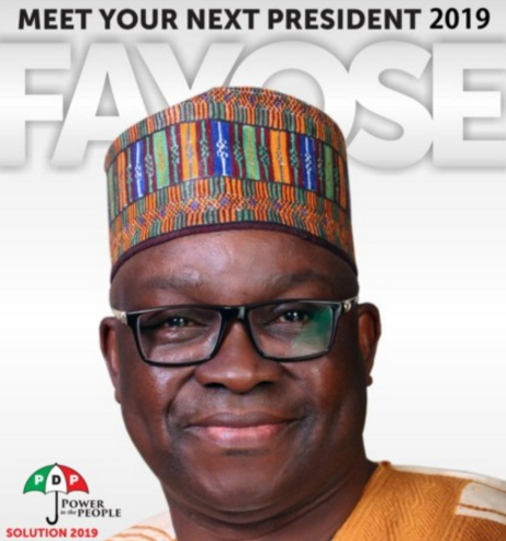fayose 2019 campaign poster