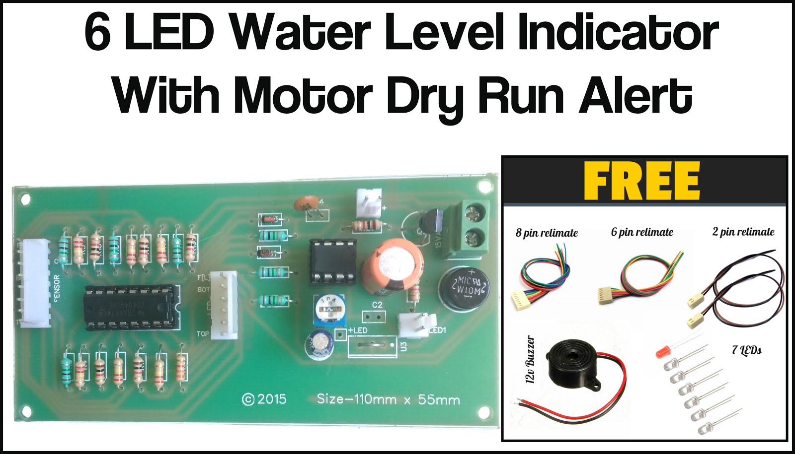 Electrolysis Free Water Level Sensor Meter Gauge Circuit Wiring Diagram For Liquid Switches Indicator Circuits Tank