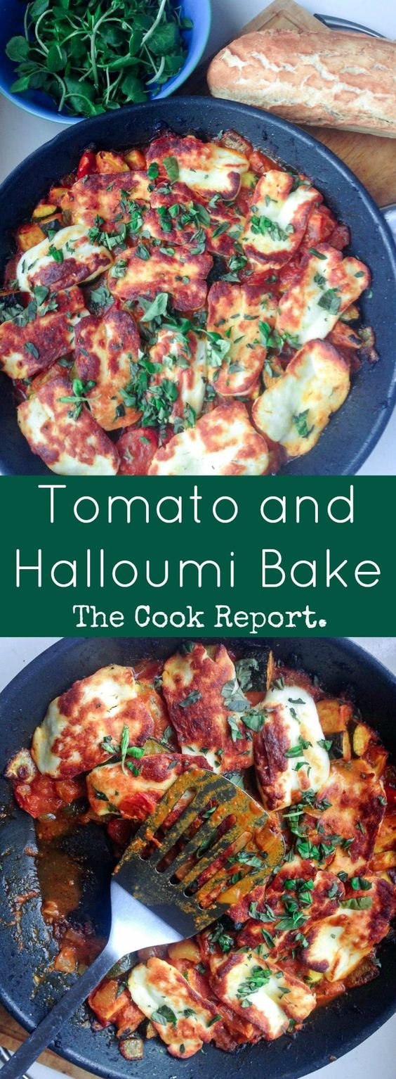 Tomato and Halloumi Bake