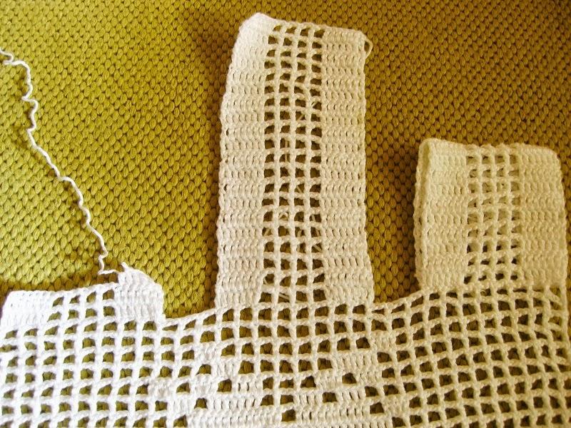 Momentos finais da minha cortina  Tricotando Croch