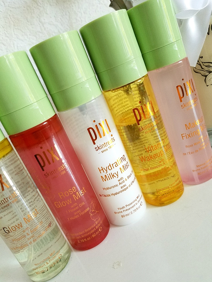 pixi Beauty Skintreats - Face Mist Review - Glow, Hydrating Milky, Vitamin Wakeup, Rose Glow, Makeup Fixing  Review